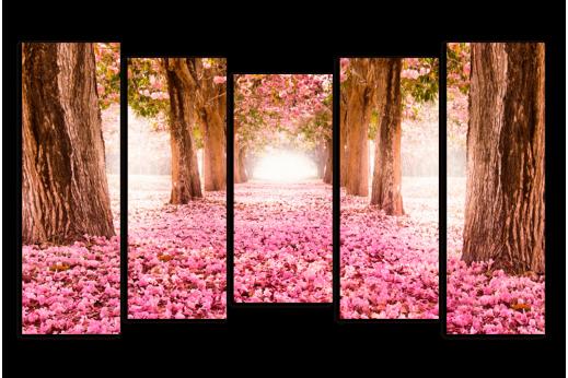 Модульная картина Розовый Лес