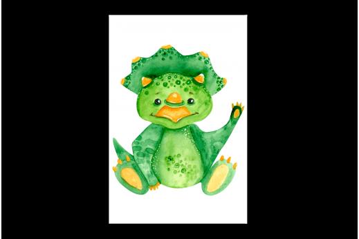 Картина  Зеленый динозавр