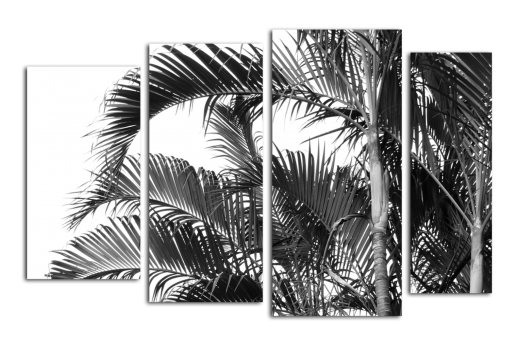 Модульная картина Пальмовые листья