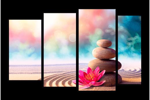 Модульная картина Камни на песке